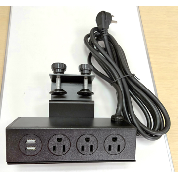 3 Sockets Power Outlet with fixed bracket