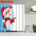 Christmas Themed Shower Curtain