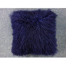 "16"" x 16""  Tibetan mongolian lamb fur pillow single side fur"