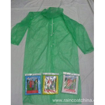 Disposable Emergency Plastic Rain Coat for Adult