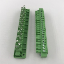 20 pin contact plug-in through wall terminal block