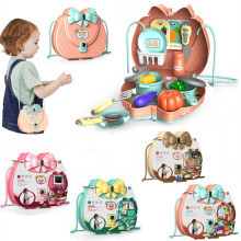 2020 New Pretend Play Plastic Food Kitchen Beauty Doctor Toys Set Toy Cutting Fruit Vegetable Food Pretend Play Children