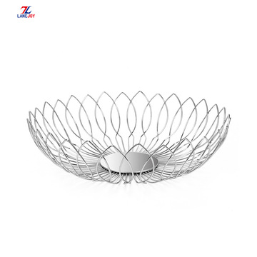 Factory produce Stainless Steel wire fruit Storage Basket