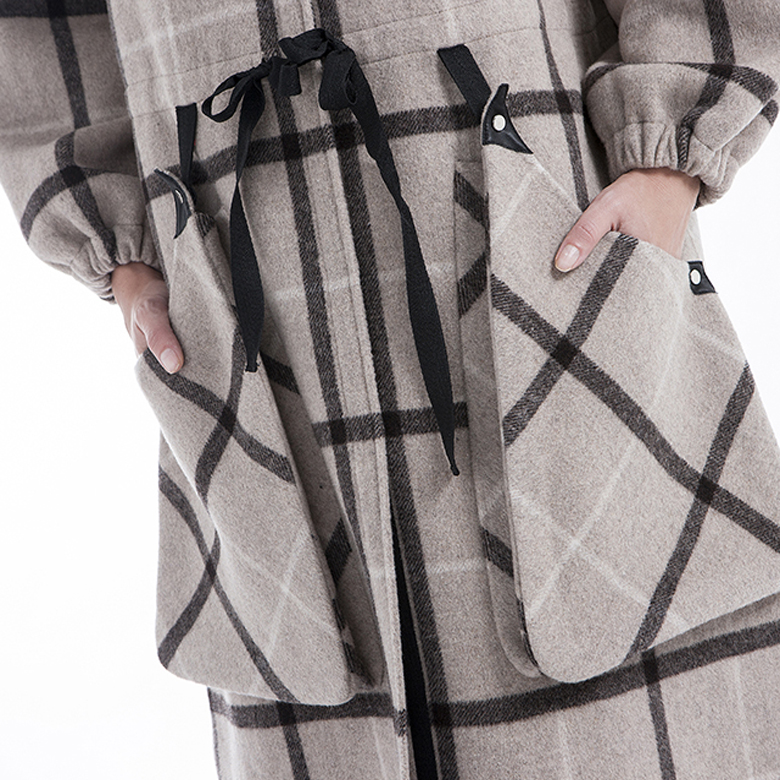 Plaid 100% pure cashmere in winter