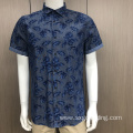 Men's 100% cotton print short sleeve shirt