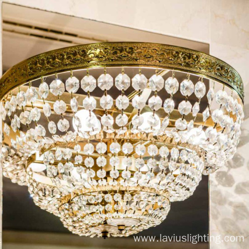 Living room crystal led ceiling chandelier lamp