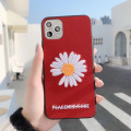 Soft Leather Fragment Flower Phone Case Embroidery