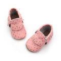 Fancy Dots Patterns Moccasins Attractive Price Baby Shoes