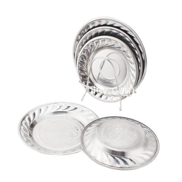 Stainless Steel Tableware Plate and Fruit Dish