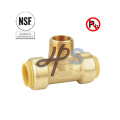 Upc Lead Free Brass Push Fit Mnpt Tee Coupling