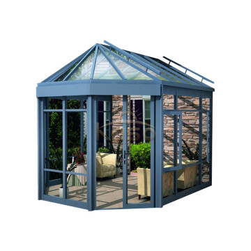 Aluminium Conservatory Polycarbonate Curved Glass Sunroom