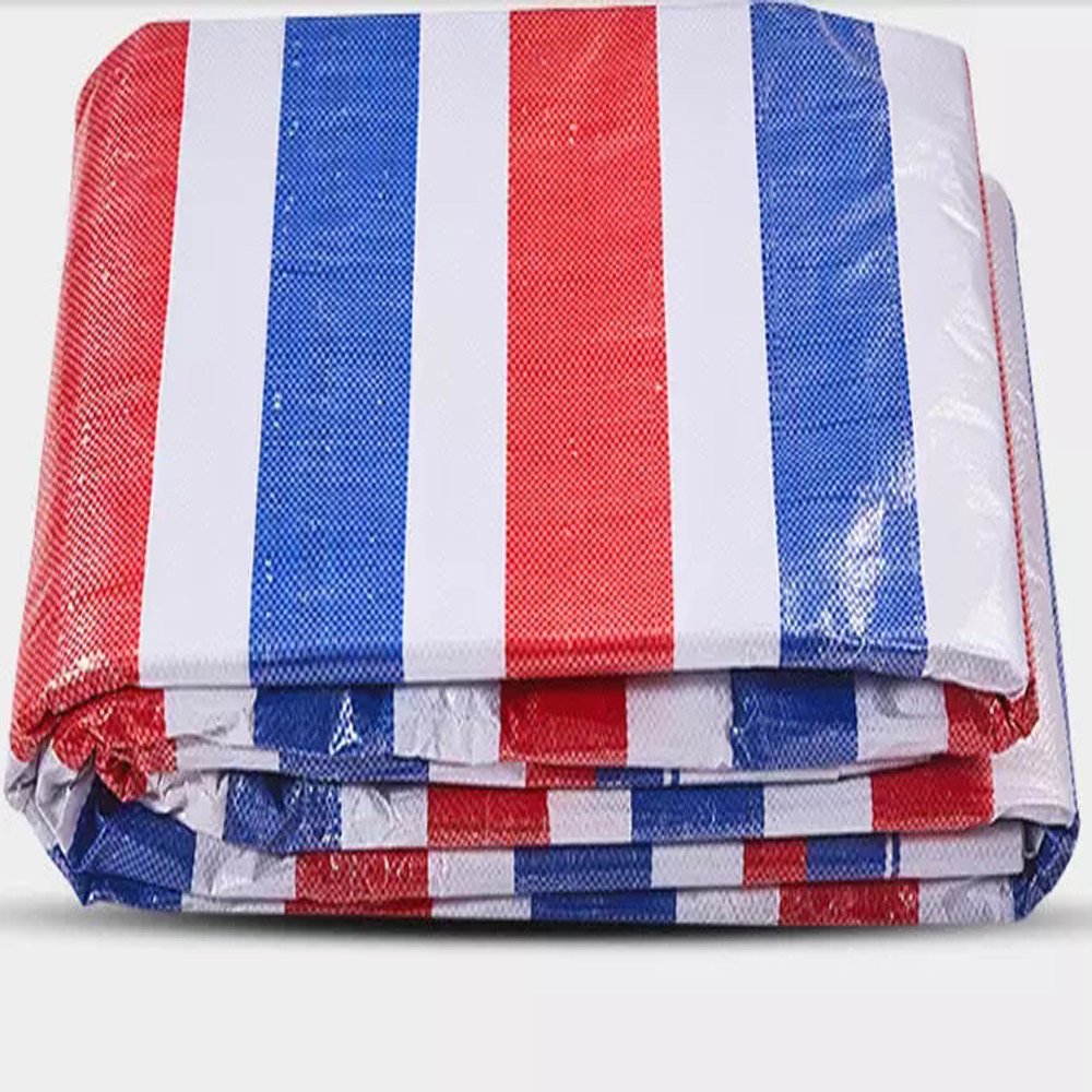 Red Blue White Tarpaulin Lorry Cover