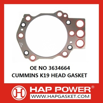 3634664 CUMMINS K19 HEAD GASKET