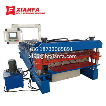 Aluminum Sheet Double Deck Roll Forming Machine