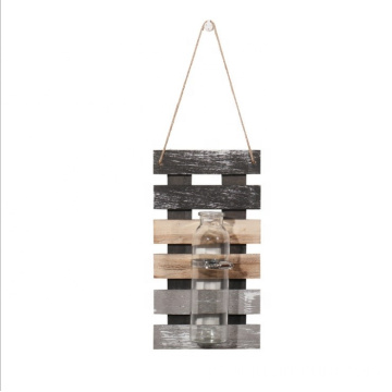 Rope wall hanging shelf with bottles