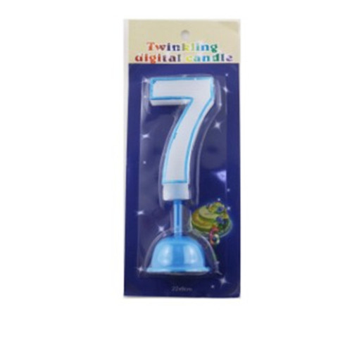 Multicolored Music Number Birthday Candle