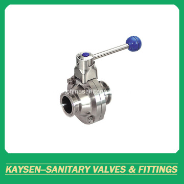 Sanitary Clamped Butterfly Type Ball Valve 3A/SMS/ISO/DS