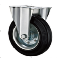80 mm    industrial  rubber  rigid casters without brakes