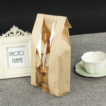 With window bread kraft paper bag for bakery
