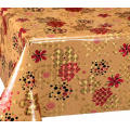 Double Face Emboss printed Gold Silver Tablecloth Costco