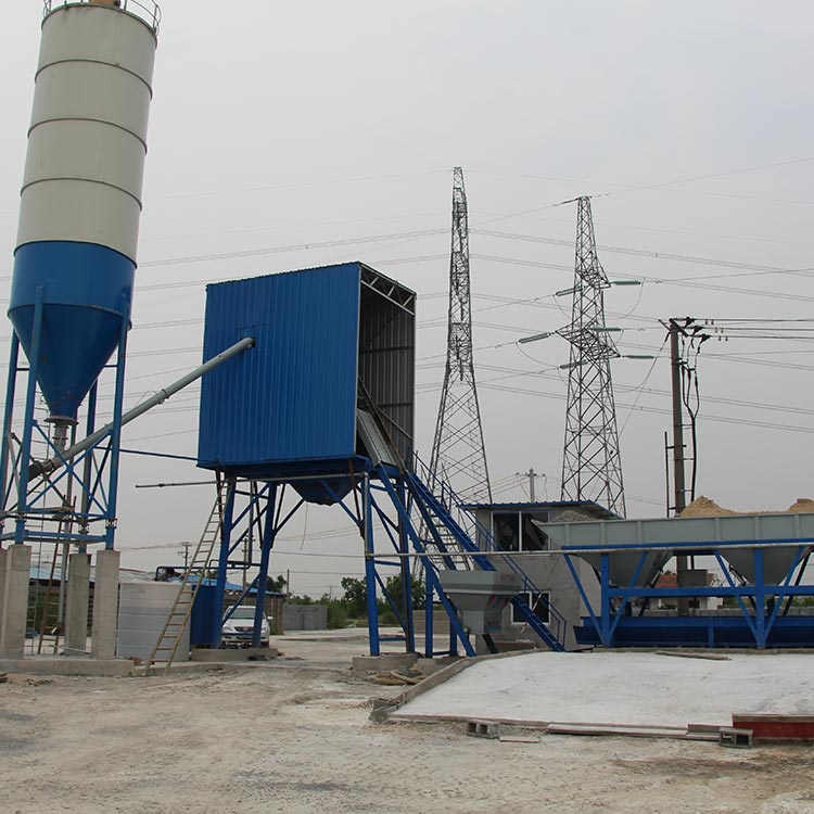 Modular construction layout drawing concrete batching plants