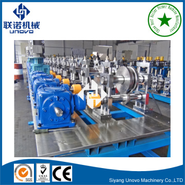 Supermarket shelf column roll forming machine