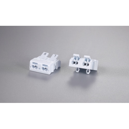 2 Poles Minitype Wire Connector With Fixed Foot