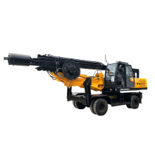 Hydraulic bore pile driver machine