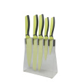 Non stick Green knife set