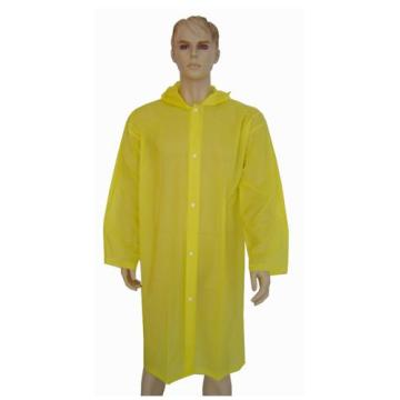 Yellow EVA Fashionable long raincoat