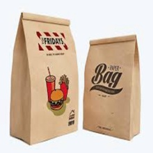 Eco Friendly Custom Printed Grocery Paper Lunch Bag