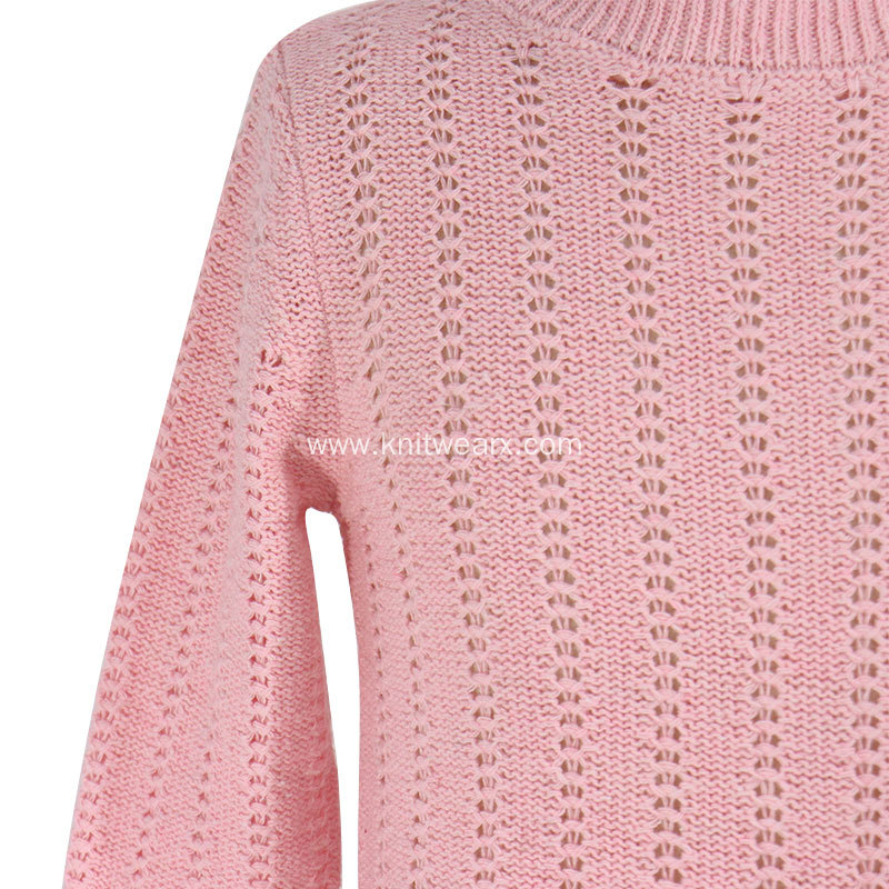 Girl's Knitted Smart Mockneck Pullover Sweater