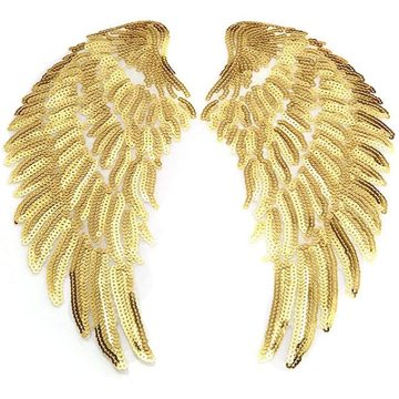 Embroidery Cloth Sequins Feather Patches Accessories Wings