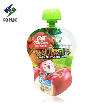 Baby food plastic drink packaging bag spout pouch