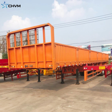 Widely Used Side Wall Cargo Semi Trailer