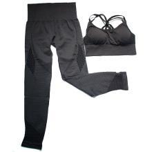 LANTECH Yoga Sets Gym Fitness Clothing Pants Sportswear Leggings Padded Push-up Seamless Sports Bra Women Sports Suits Set