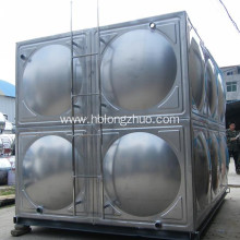Modular stainless steel panel water storage tank