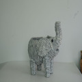 wash white water hyacinth elephant decoration pot
