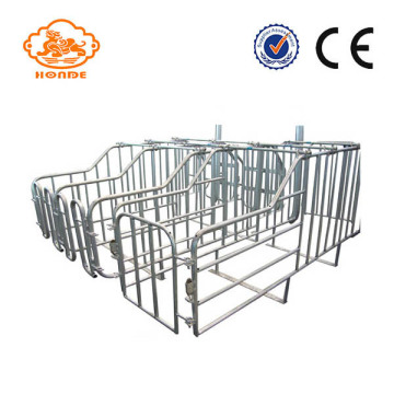 Pig farm useing durable farrowing crate