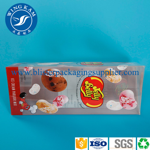 Colorful Plastic Folding Packaging with Red Triangle Bottom