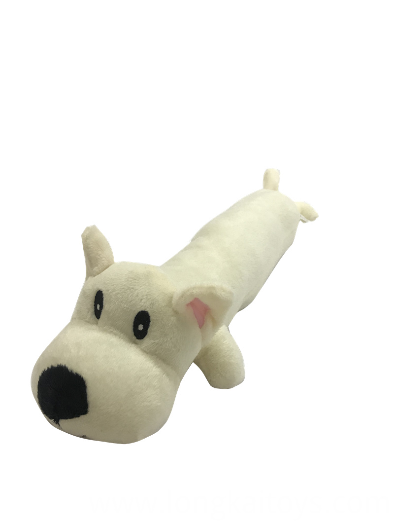 Plush White Dog Toy