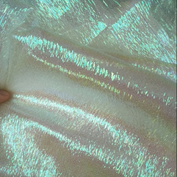 Nice Rainbow Organza Mesh Fabric For Garments