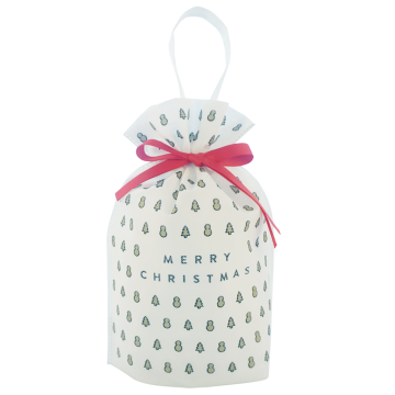 White Non-woven Christmas Tree Pattern Gift Packing Bags