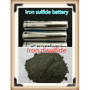 Iron disulfide for lithium/iron sulfide batteries