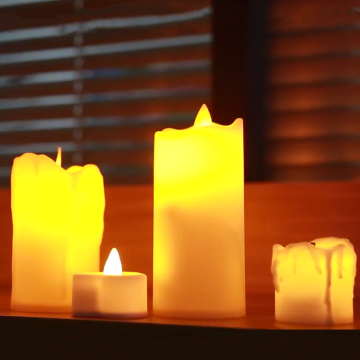 Battery operated church candles LED Pillar candles