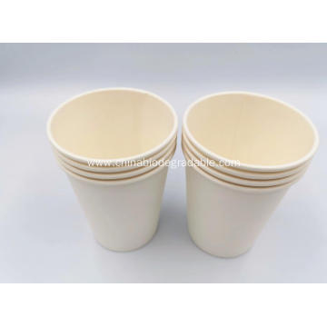 PLA Cornstarch Paper Cup For Hot Cold Drink