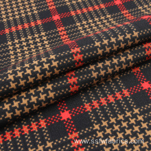 Gingham 97% Polyester 3% Elastane Scuba Textile Fabric