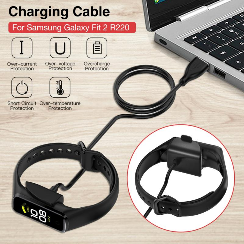 15cm/100cm Portable Fast Charging Cable Power Source For Samsung Galaxy Fit 2 R220 Smart Watch Charger Band Accessories Dropship