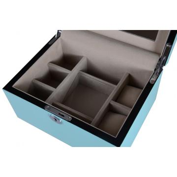 Tiffany Blue Ladies Two Layers Jewelry Box