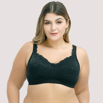 In-stock plus size full cup lace bra minimizer